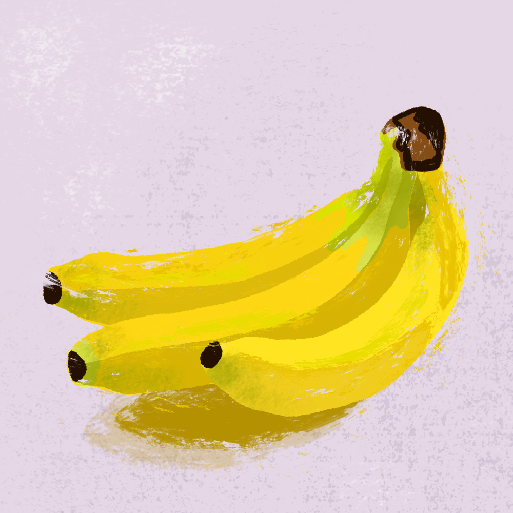 sarah chand food illustration banane (digitale illustration)