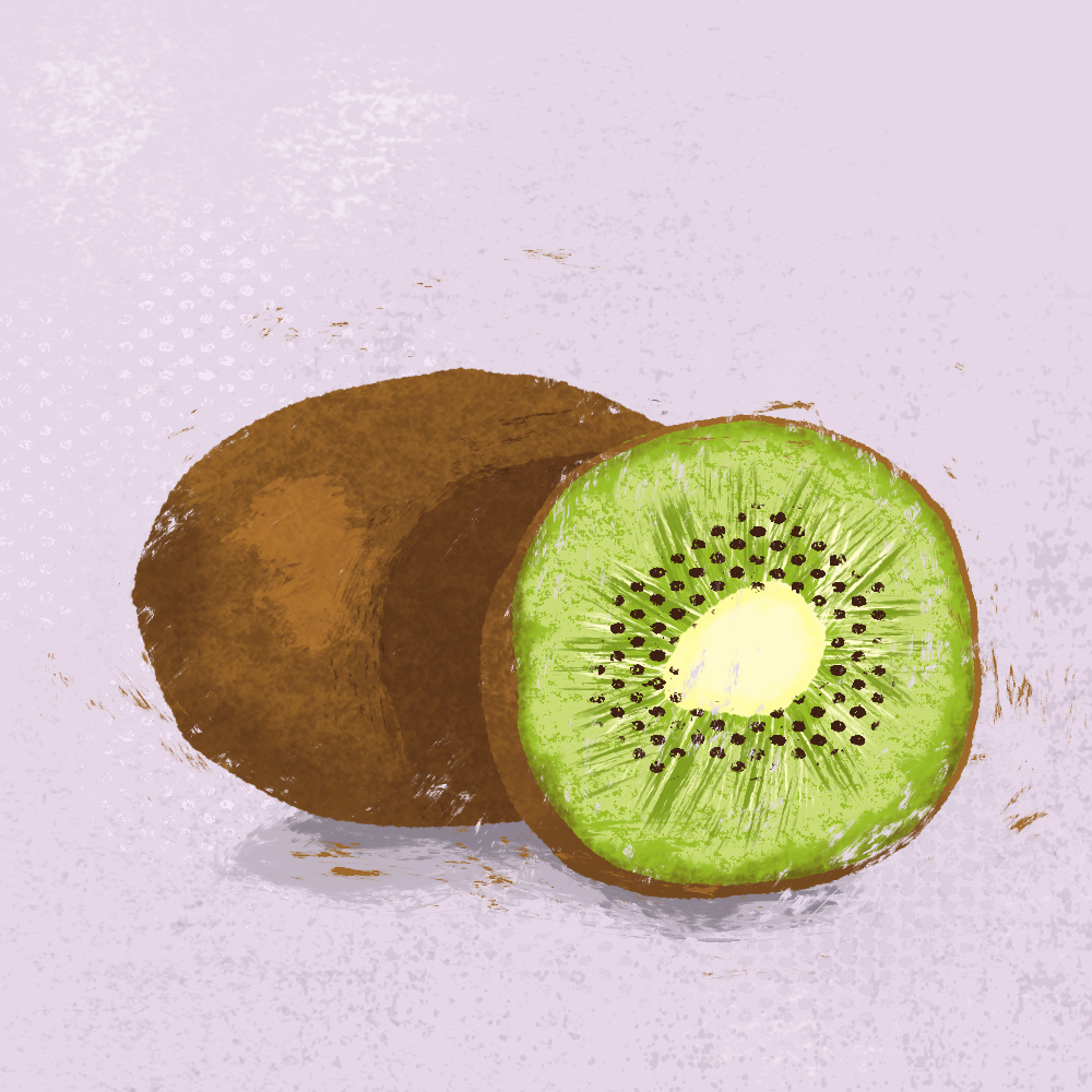 sarah chand food illustration kiwi (digitale illustration)