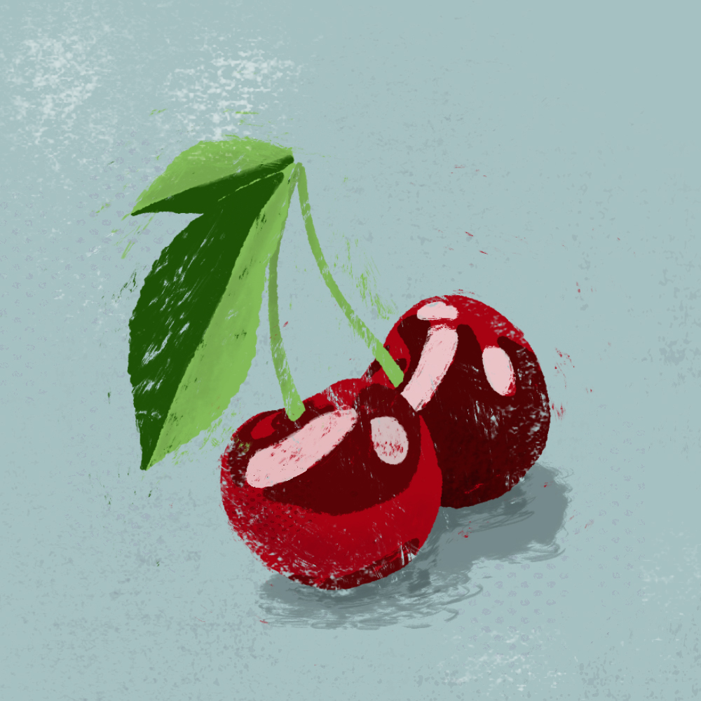 sarah chand food illustration kirsche (digitale illustration)